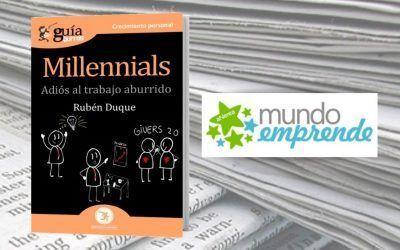 El 'GuíaBurros: Millennials' en la web de Mundo Emprende