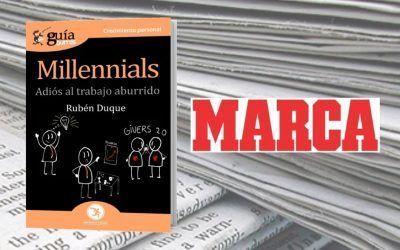El 'GuíaBurros: Millennials' en el diario Marca